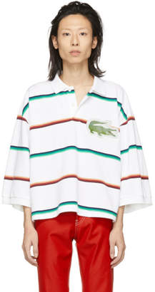 Doublet White Oversized 3D Patch Polo
