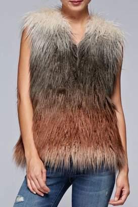 Love Stitch Faux Fur Ombre-Vest