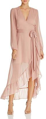 WAYF Only You Ruffle Wrap Dress - 100% Exclusive $128 thestylecure.com