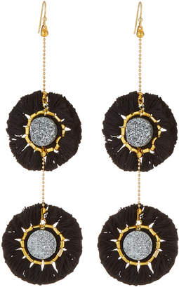 Panacea Double Druzy Fringe Drop Earrings