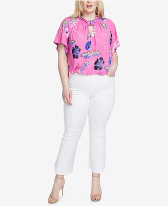 Rachel Roy Trendy Plus Size Floral-Print Kimono Top