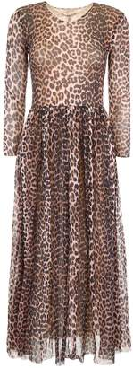 Ganni Leopard-printed Dress