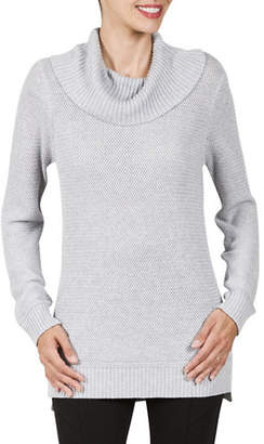 Haggar Textured Cowl Neck Sweater