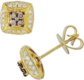 Espresso Natural Color Diamonds 10k Gold 1/2-ct. T.W. Brown & White Diamond Stud Earrings