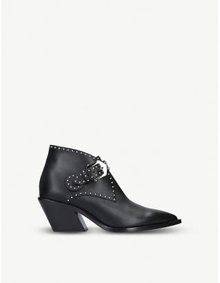 Givenchy Stud-embellished leather cowboy boots