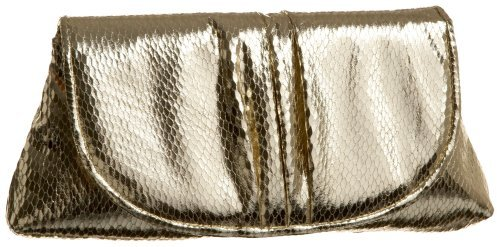 La Regale Faux Snake Clutch