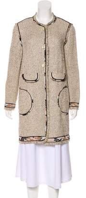 Leonard Tweed Knee-Length Coat