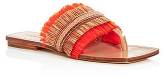Sigerson Morrison Women's Avis Raffia Thong Sandals