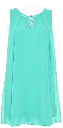 Quiz Aqua Chiffon Sleeveless Tunic Dress