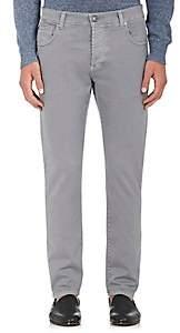 Isaia Men's Slim Straight Jeans-Light Gray