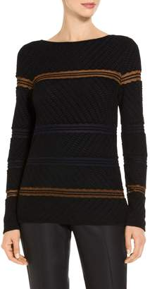St. John Velvet Wave Knit Sweater
