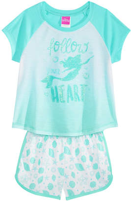 Disney Disney's The Little Mermaid Little & Big Girls 2-Pc. Pajama Set, Created for Macy's