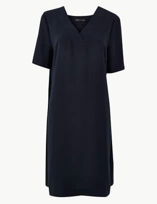 Marks and Spencer Crepe Knee Length Shift Dress