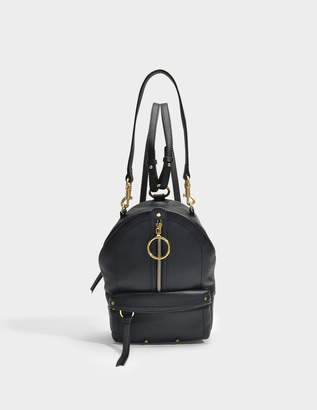 Mino Mini Backpack in Black Small Grain Cowhide Leather See By Chlo dA96sPllH