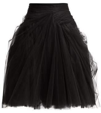 Prada Tulle Layered Mini Skirt - Womens - Black