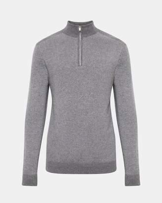 Theory Mock Half-Zip Sweater