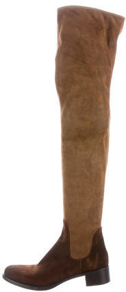 pradaPrada Suede Thigh-High Boots