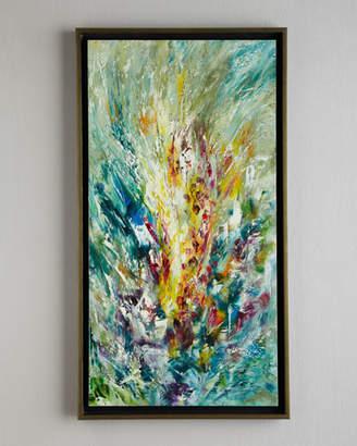 "John-Richard Collection Gladiolus"" Jinlu Original Oil Painting"