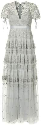 Needle & Thread tiered V-neck dress