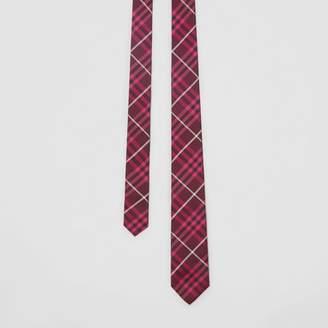 Burberry Slim Cut Check Silk Tie