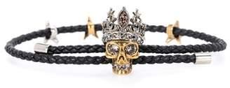 Alexander McQueen Embellished leather bracelet