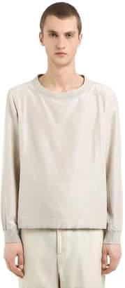 Cotton & Silk Poplin Short Sleeve Shirt