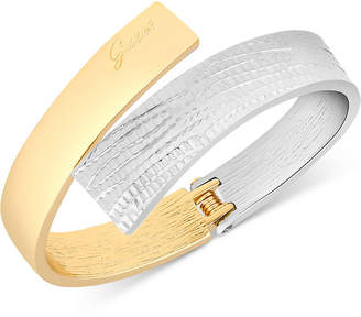 GUESS Two-Tone Hinged Bangle Bracelet