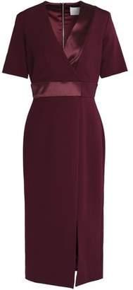 Dion Lee Wrap-Effect Satin-Trimmed Crepe Dress