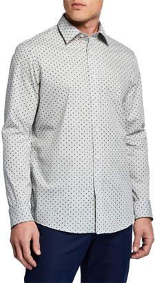 Michael Kors Men's Striped Rob Print Sport Shirt