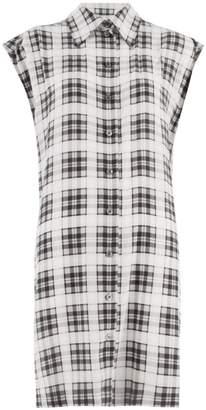 Marc Jacobs Redux Grunge Plaid Washed Silk Sleeveless Shirt