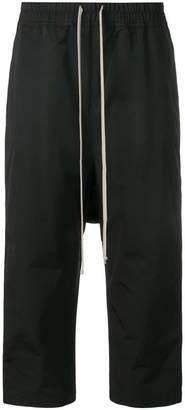 Rick Owens cropped drawstring track pants