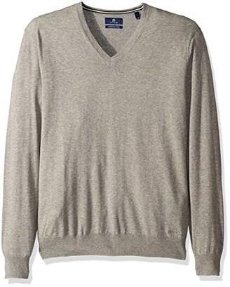 Gant Men's Silk Blended V Neck Sweater