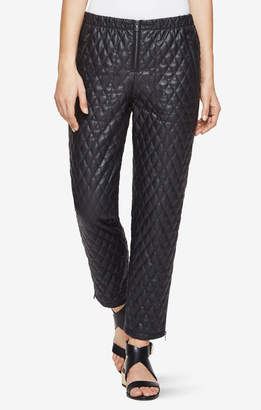BCBGMAXAZRIA Lucien Quilted Faux-Leather Leggings