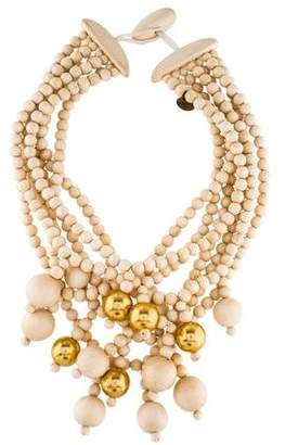 Viktoria Hayman Wood Bead Multistrand Necklace