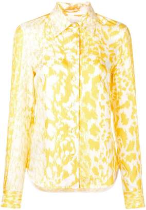 Victoria Beckham leopard print shirt