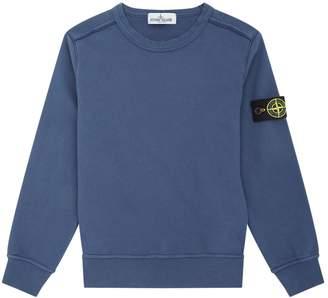 Stone Island Junior Cotton Crew Neck Sweatshirt