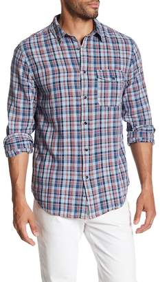 Save Khaki Long Sleeve Madras Classic Fit Work Shirt