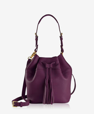 GiGi New York Jenn Bucket Bag, Wine Pebble Grain
