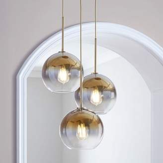 west elm Sculptural Glass Globe 3-Light Chandelier - Medium (Gold Ombre)