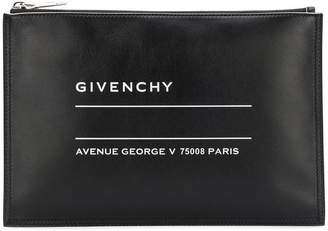 Givenchy medium printed clutch bag