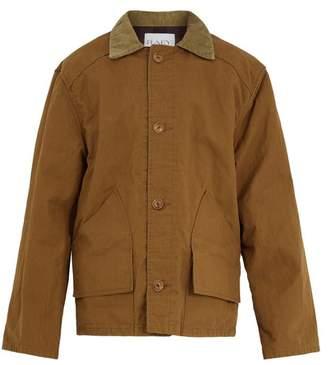 Raey Contrast-collar cotton fishing jacket