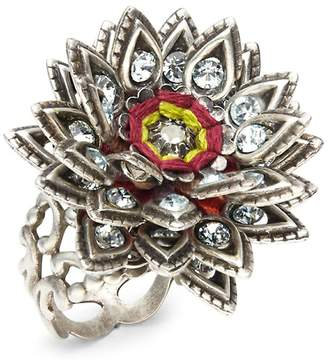 Miriam Haskell Women's Crystal-Studded Ring