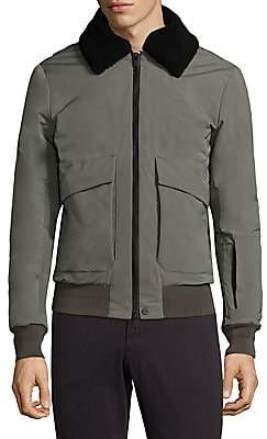 J. Lindeberg Men's Shearling-Collar Flight Jacket