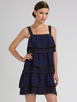 Marc Jacobs Tiered Silk Tank Dress