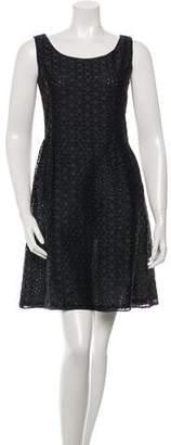 Michael Kors Embroidered Sleeveless Dress
