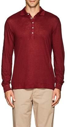 Massimo Alba Men's Slub Linen Polo Shirt