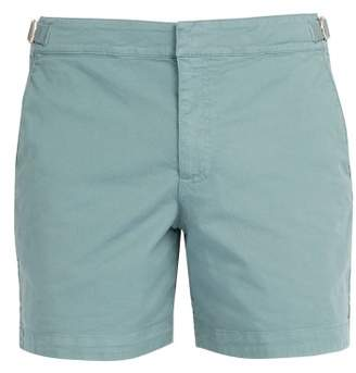 Orlebar Brown Bulldog Cotton Blend Shorts - Mens - Light Green
