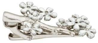 Tateossian Crystal & Enamel Sakura Pin