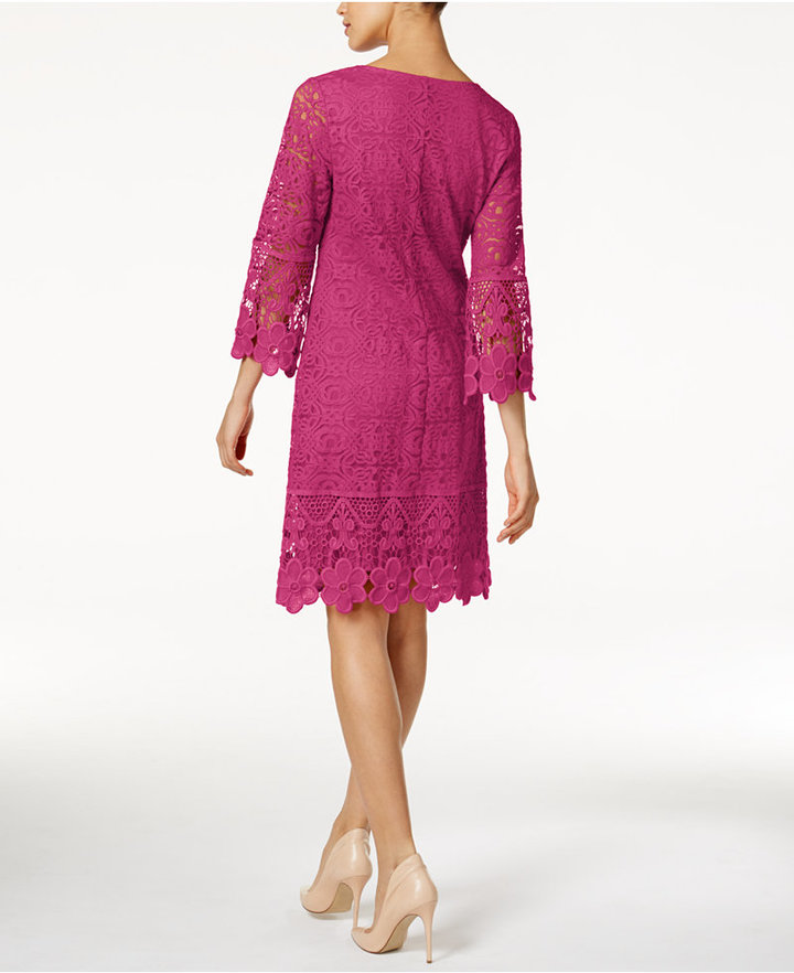 Alfani Crochet-Trim Illusion Dress, Only at Macy's 10