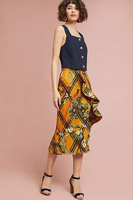 PatBO Sunflower Ruffled Skirt
